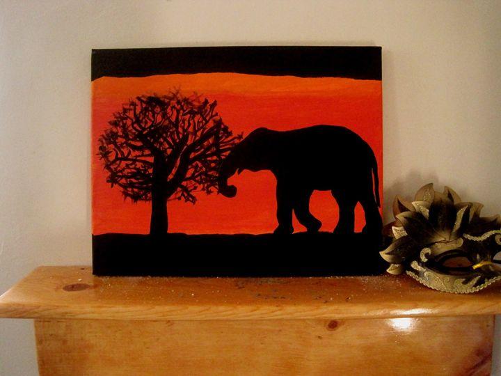 Lone Elephant - African