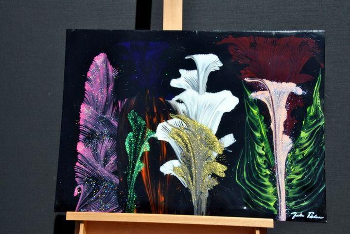 Colourfull Garden - Acrylic Canvas by J.P.