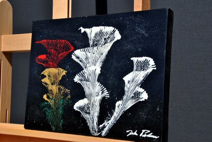 Abstract Lillies - Acrylic Canvas by J.P.