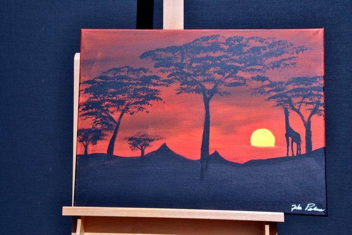 African Sunrise - Acrylic Canvas by J.P.