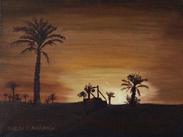 Oasis while sunset - Claudia Luethi alias Abdelghafar