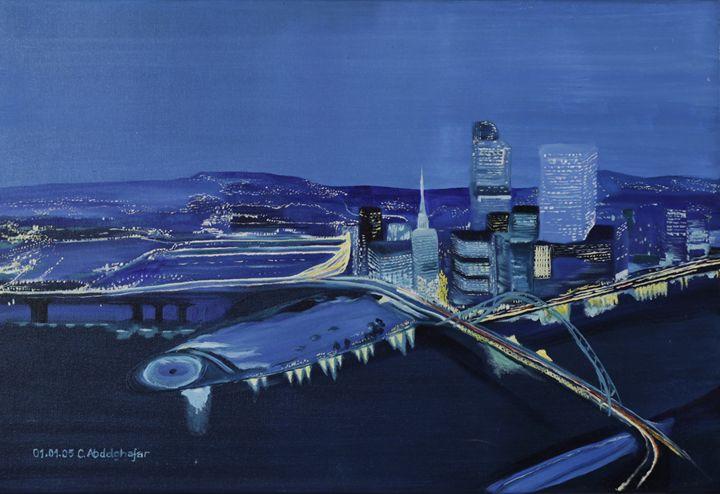 Skyline by night - Claudia Luethi alias Abdelghafar