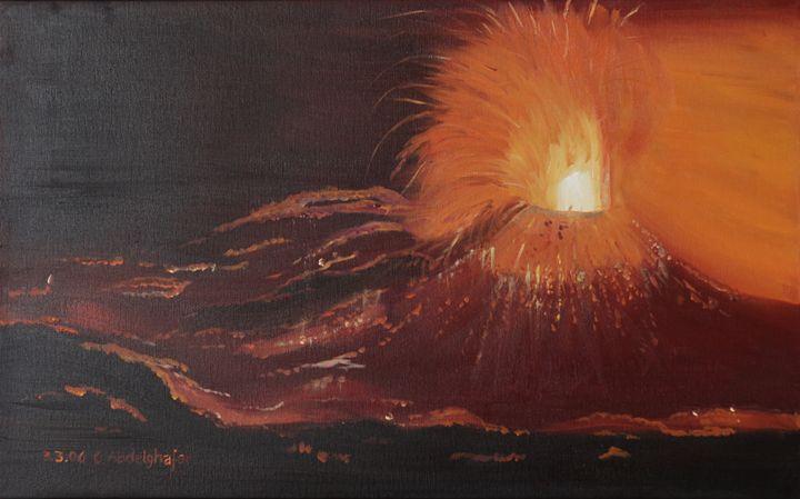 Volcanic eruption - Claudia Luethi alias Abdelghafar