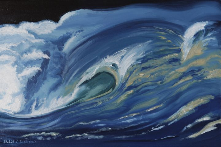 Wave just breaking - Claudia Luethi alias Abdelghafar
