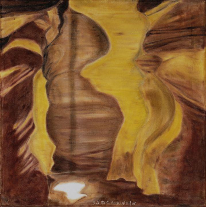 Cave playing with the sunlight - Claudia Luethi alias Abdelghafar