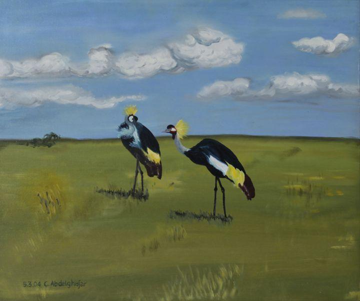 Royal cranes - Claudia Luethi alias Abdelghafar