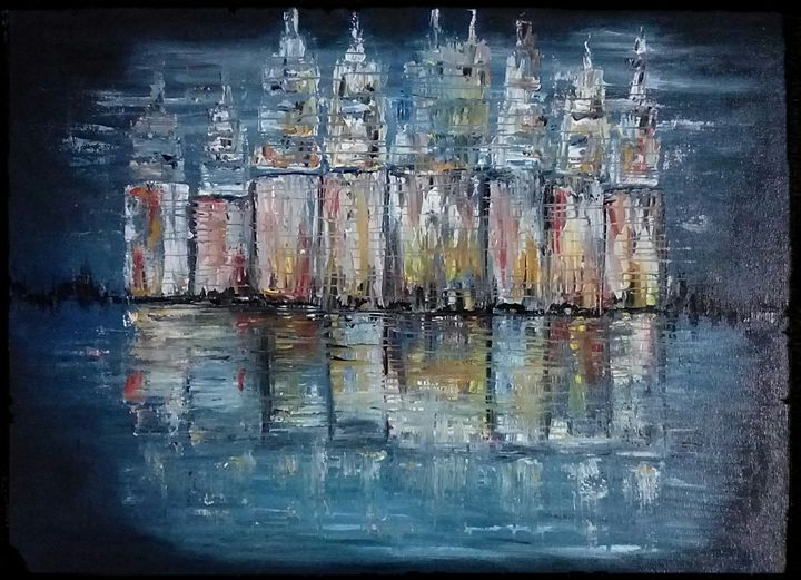 Abstract of buildings - paintings