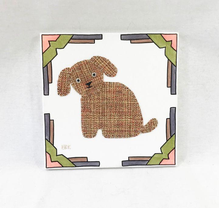 Sitting Puppy #16 - Erin Brie Art