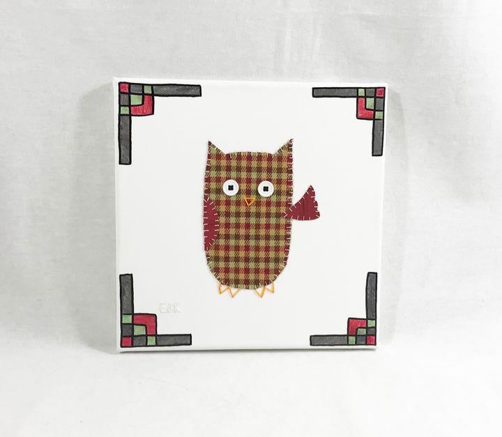 Waving Owl #6 - Erin Brie Art
