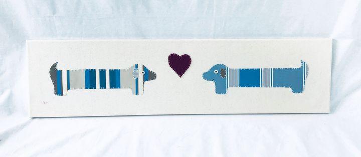 Dachshund Love #6 - Erin Brie Art