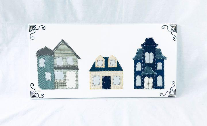 3 Houses #1 - Erin Brie Art