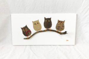 Owls on Branch #9