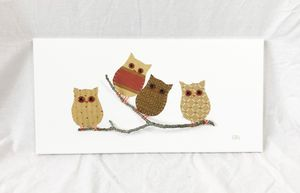Owls on Branch #18