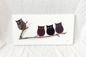 Owls on Branch #12