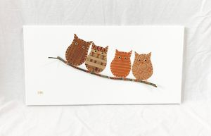 Owls on Branch #22