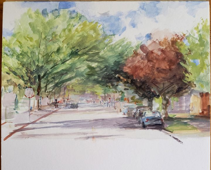 Tree Lined Street - Miguel Malagon