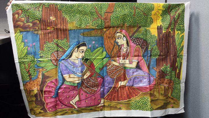 Traditional Indian women on Veena - Pritam