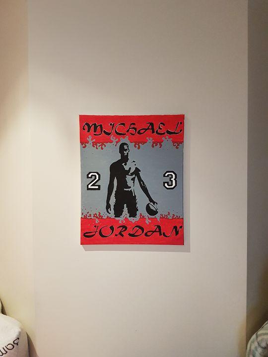 Michael Jordan Canvas 40cm x 50cm - Khameleon Kickz