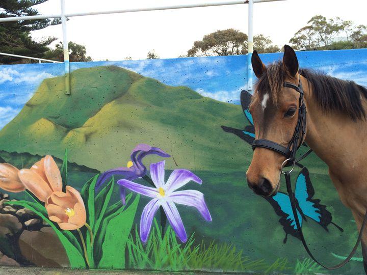 Horse in artwork - Sarah Bell