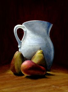 Pitcher with pears