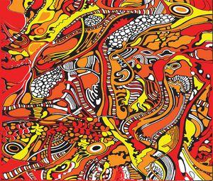 Red Yellow and Orange tree pattern