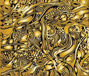 Golden tree pattern