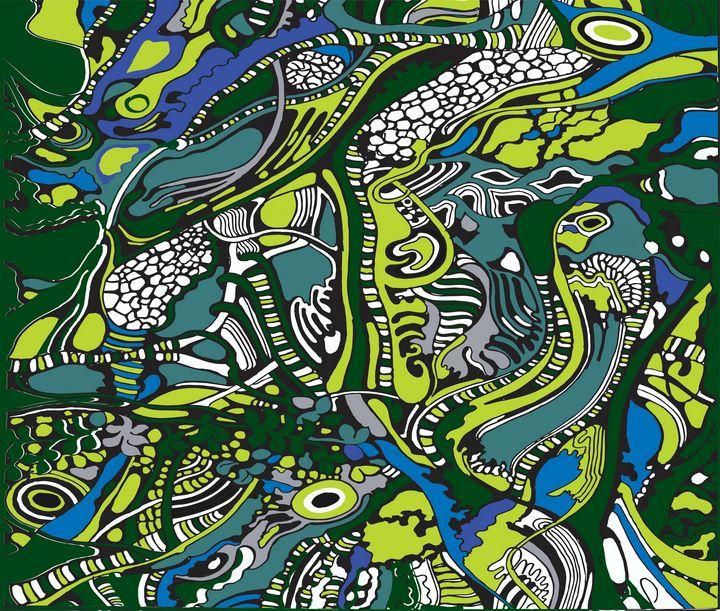 green and blue tree pattern - kitendwamervin