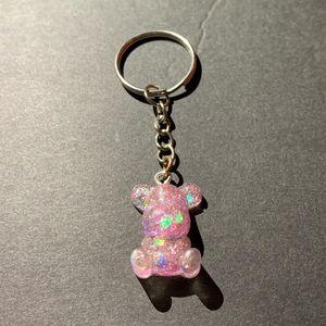 Pink Gummy Bear Keychain - AngelsWalkAmongst