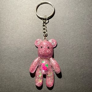 Pink Strawberry Bear Keychain - AngelsWalkAmongst