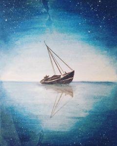 Blues of sea