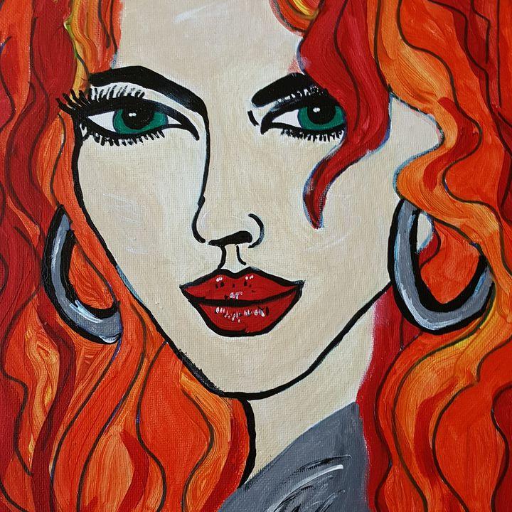 Svetlana - Hippie Daisy Art
