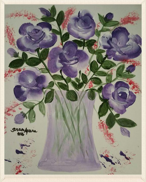 Purple Roses - GracyArts