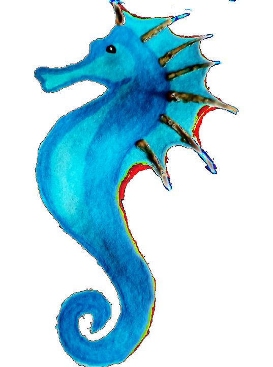 Waterseahorse - Watercolors