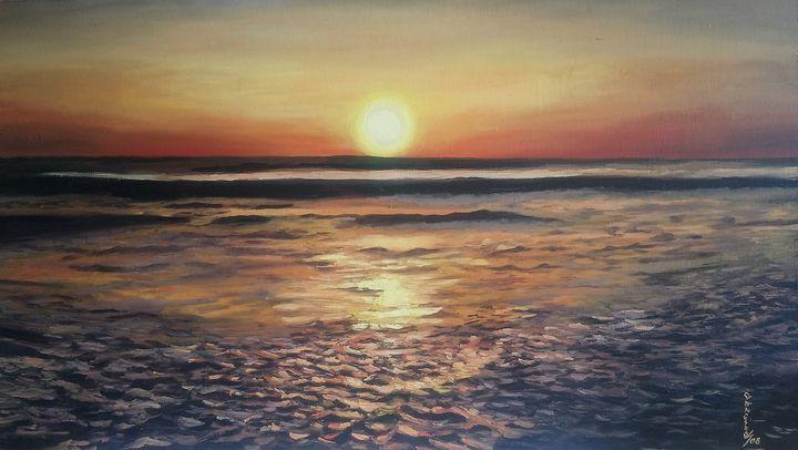 Sunset at sea - gancino