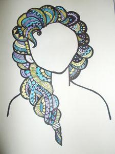 trendy hair art