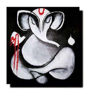 Lord Ganesha Abstract Painting