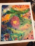 Abstract Spring canvas painting