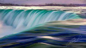 Waterfall  by Trisha Shah
