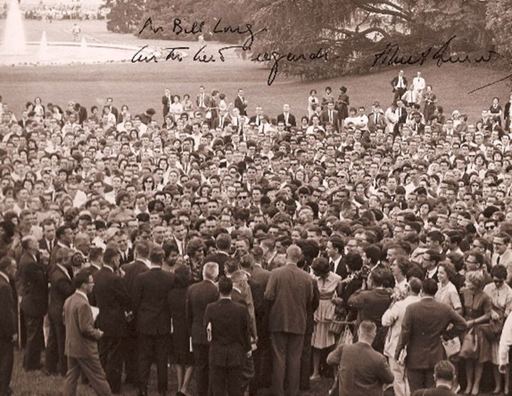 JFK with students, 1962 - Dr. Bill Long