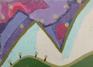 Mountain with house and trees - Matu & Dijana Art