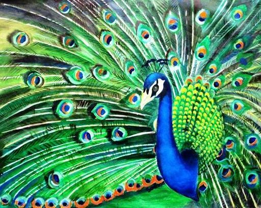 Dancing Peacock - Art a Thrilling Spark