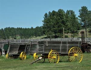 Yellow Wheeled Wagons