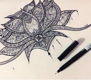 Lotus Mandala-Zentangle