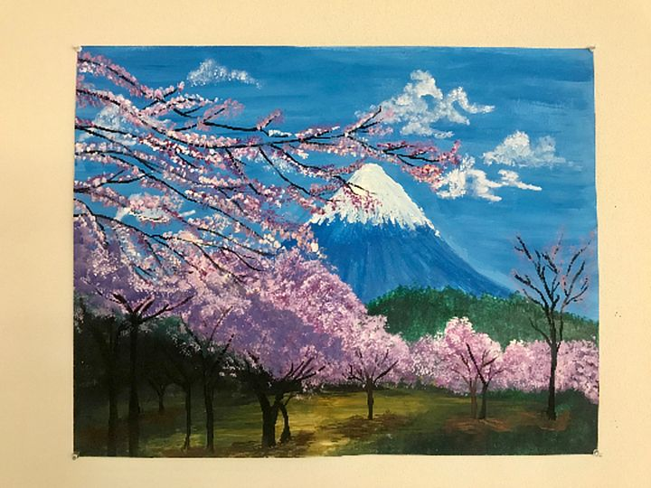Canvas Acrylic Painting - Mt Fuji - VCreateDesigns
