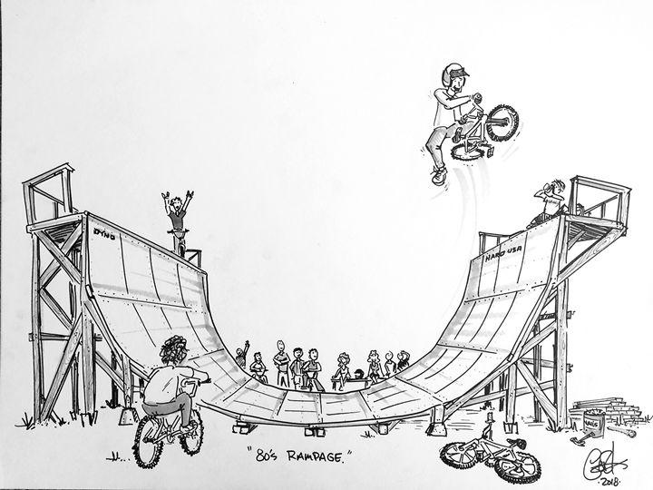 80's Rampage - Print of Original - gOrk's BMX Art