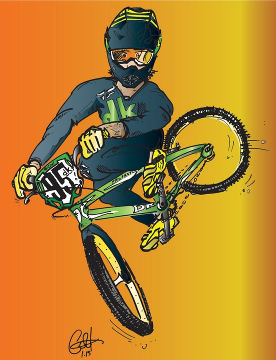 Whippin' it out - w/Barry Nobles - gOrk's BMX Art