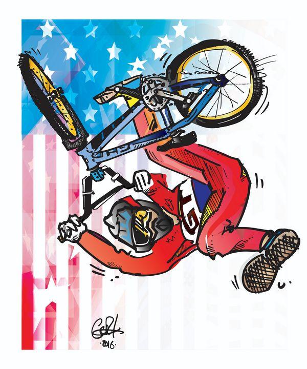 Eddie Fiola - Patriotic - gOrk's BMX Art