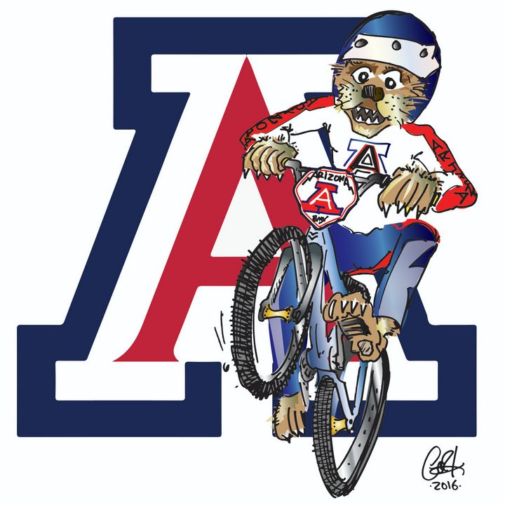 BMXin' U-of-A Wildcat - gOrk's BMX Art