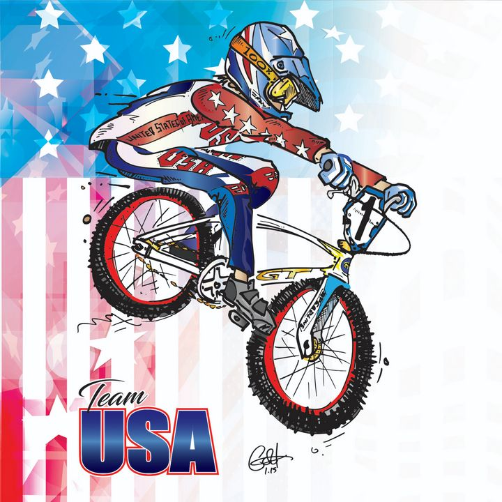 Team USA BMX - gOrk's BMX Art