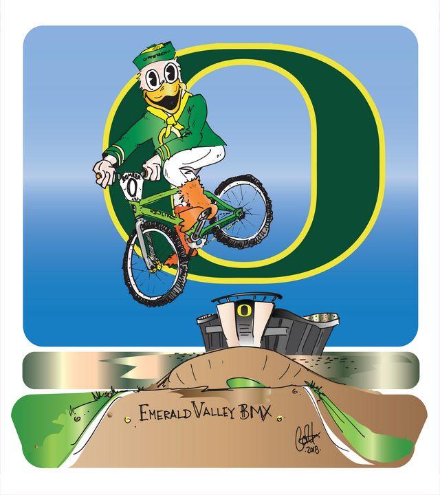 Oregon's Mightiest Duck - Version 2 - gOrk's BMX Art & Photography